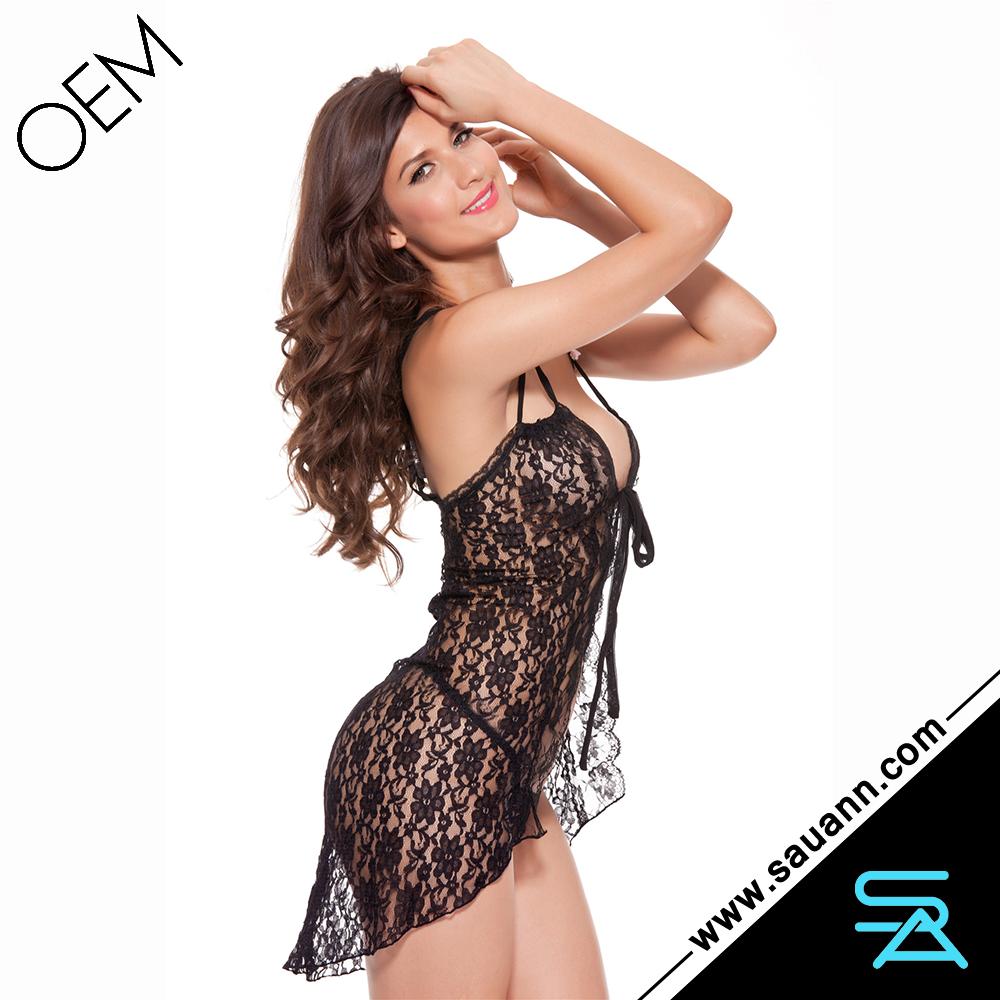 Sexy Hot Women Ladies Sexy Nighties Black Lace Dress Lingerie ...