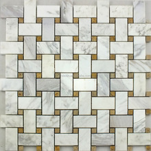 latest design unique style nature stone mosaic bathroom floor and wall tiles