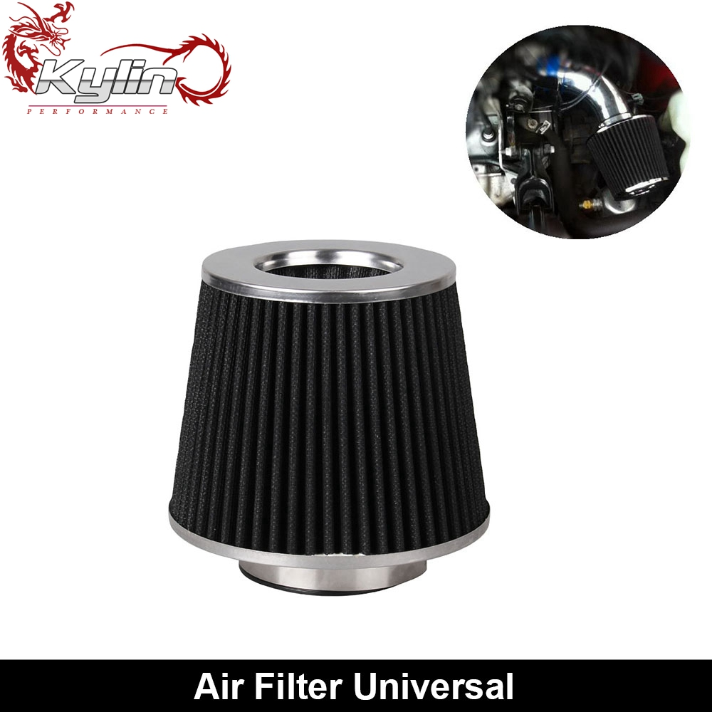 Ryanstar Racing Universal 3'' Car Truck 155mm Height Cold Air Intake Cone Air Filter
