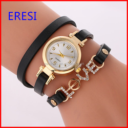 Fashionable Women PU Leather Watch Welcome Clients LOGO Brand Watch Wholesale Price Wrist Watch