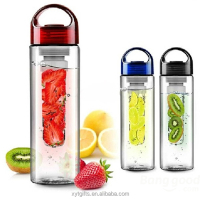 BPA free plastic Large fruit infuse hydration bottle multi-use infuser bottle ,multiple color available
