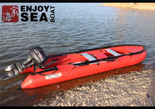 fishing boat kayak,Double sea kayak, inflatable kayak,on top Bottom Transparent
