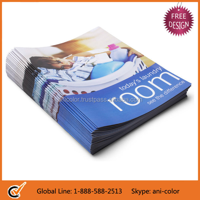 Free Design High-end Glossy Paper Brochure Printing