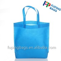 China supplier recycles foldable nonwoven fabric bag hot presssing shopping tote bag