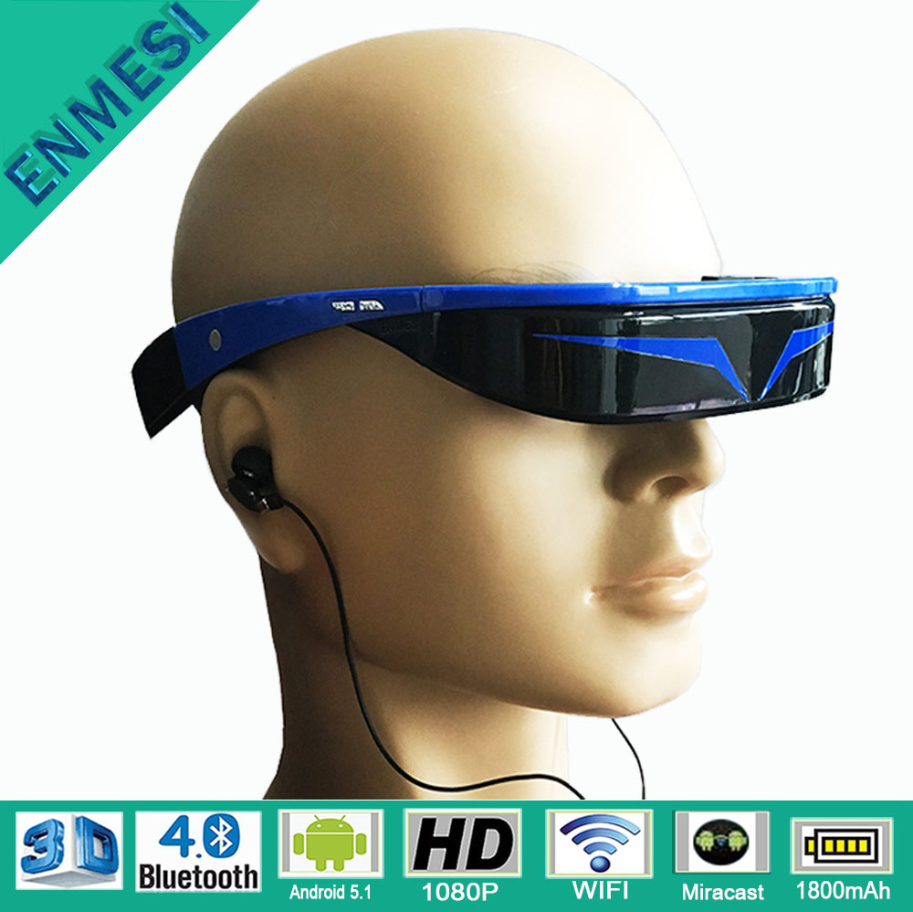 Android 1080P Full HD Bluetooth 3D Virtual Glasses Video with WIFI