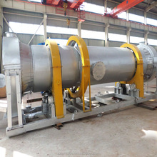 Small single stainless steel drum dreg wood sawdust caly material fluorite bentonite gold ore powder rotary dryer price