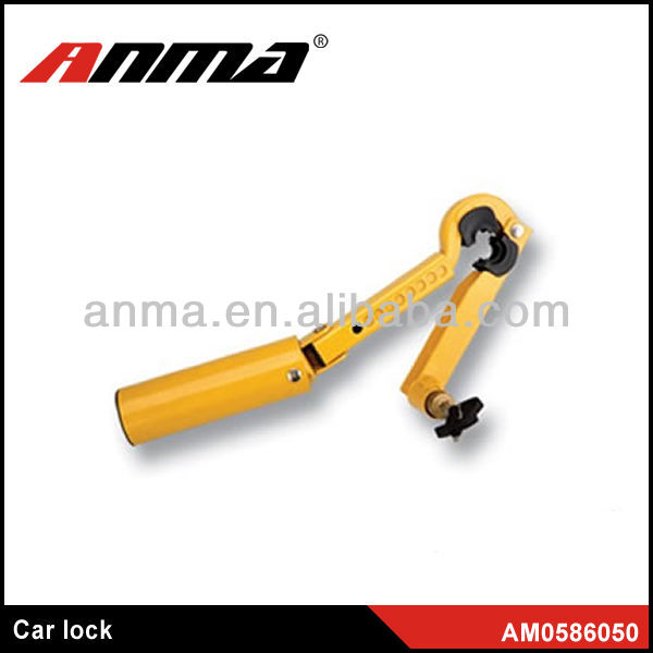 Universal type and easy install alarm car steering wheel lock