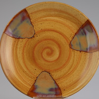 Ceramic Dinner Plate With Wood Grain