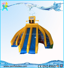 Commercial Grade Spongebob Inflatable Water Slide For Sale Amusement Park