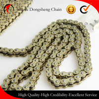 high quality 40MN black motorcycle chain with 428/428H/520/530/420/525 motor parts driving chains for 150cc cd70