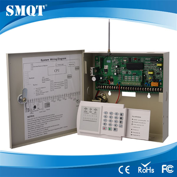 PTSN auto dial wireless and wired alarm control panel