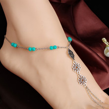 2016 wholesale alibaba silver chain anklets locking anklet
