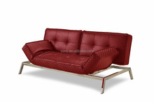 Single Seater Metal Sofa Bed With Faux Leather