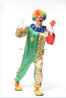 Halloween man clown costume party funny flower Clown Costume