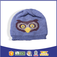 Lovely children hat with animal designs knit