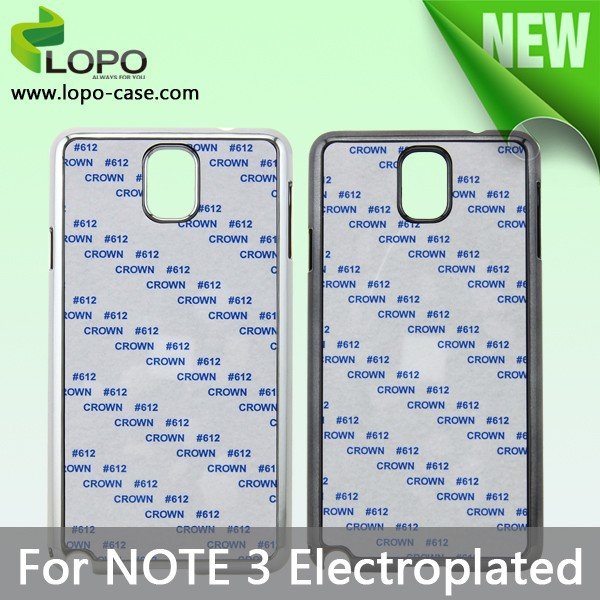 2d sublimation case,electroplated Hard PC phone case for Samsung galaxy Note 3