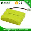 3.6v AA 500mAh Cordless Phone Rechageable Battery Pack