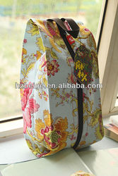 Travel Storage Shoes Bag Zip Away Visual Breathable Full Printing Canvas Shoes bag