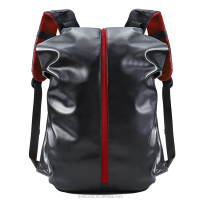 Custom New Fashion Casual School Waterproof Pu Leather Laptop Backpack Travelling Cycling Backpack