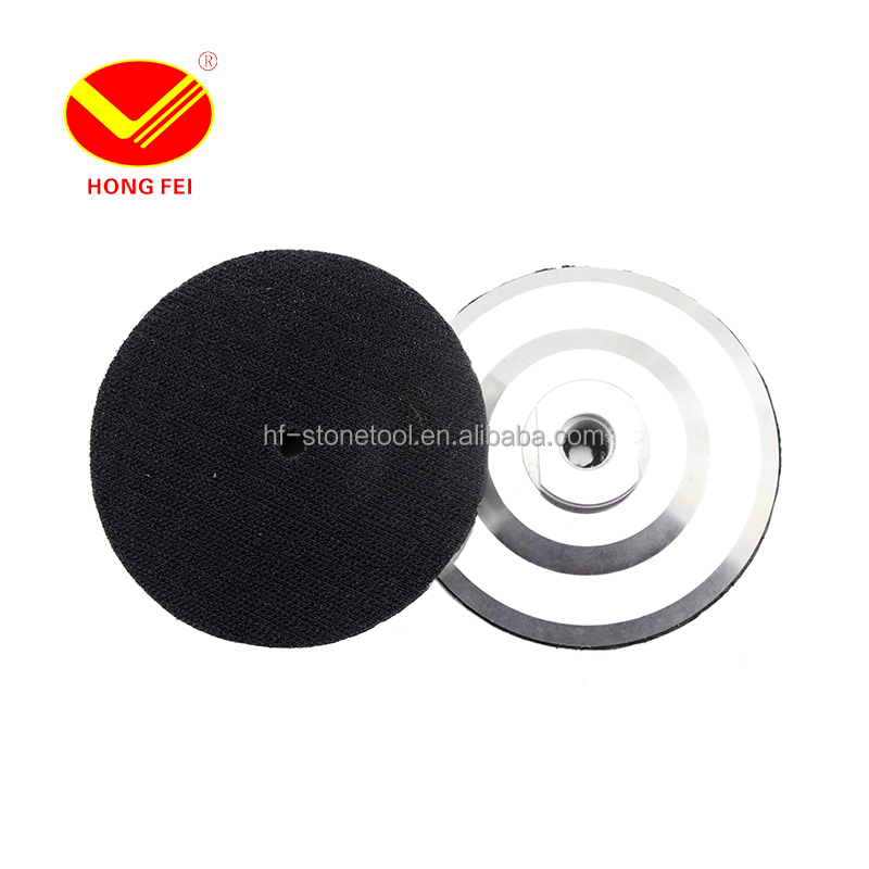 <strong>M10</strong> M14 M16 Aluminum Polishing Disk 4 inch <strong>100mm</strong> Hook & Loop Sanding Pad Holder Pad