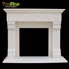 Indoor Used White Simple Marble Fireplace For Sale