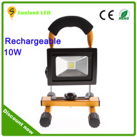 High quality 10w led flood light 10w 20w 30w 50w led rechargeable outdoor light led portable work light