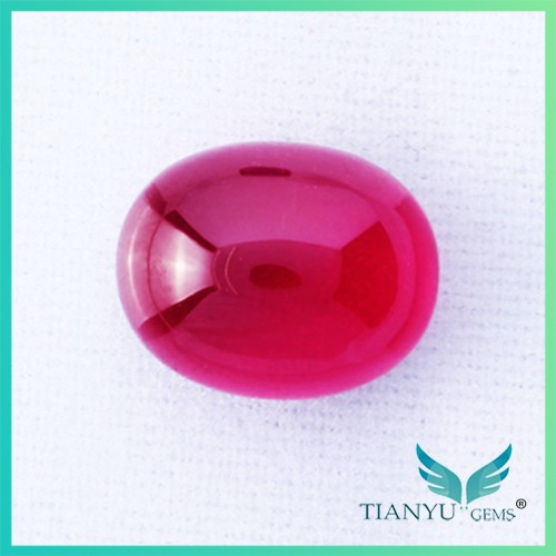 Free sample Factory Sale 7*9mm Oval Corundum Machine Cut Imitation Cabochon Ruby For Jewelry making