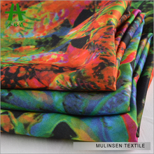 Mulinsen Textile Soft Silk Touch 50D Satin Chiffon Digital Imitation Jungle Print Fabric