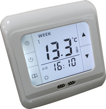 Display panel intelligent temperature controller for floor heating and AC