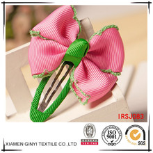 6 Inch baby girls grosgrain ribbon boutique hair bows Alligator