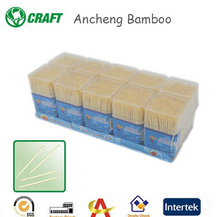 Ancheng Bamboo superior quality plastic tooth pick jar