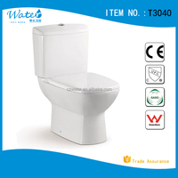 T3040 Bathroom design square sanitary ware two piece toilet