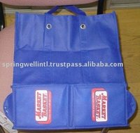 Blue Recyclable Waterproof 100% Polypropylene Folding Nonwoven Bags