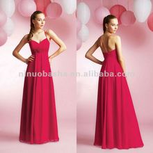 NY-2144 Poly chiffon bridesmaid dress
