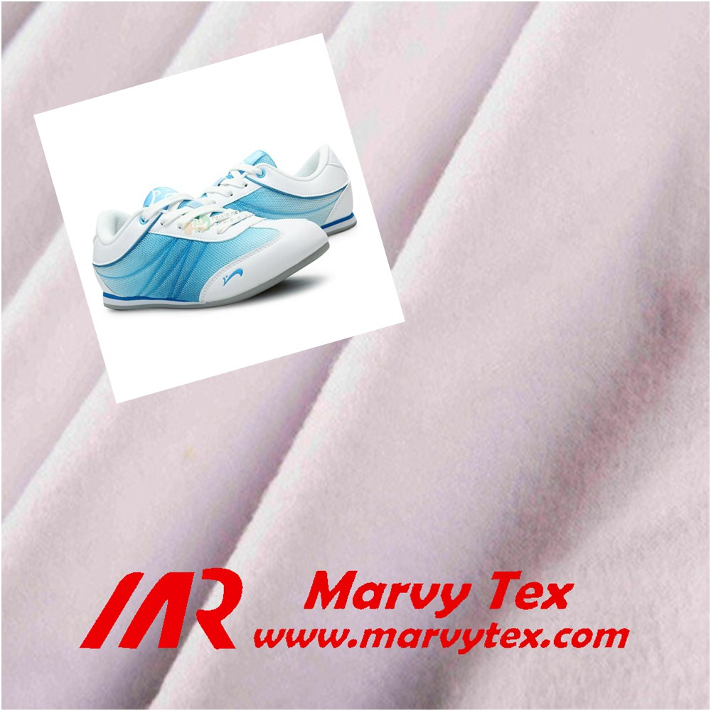polyester loop velvet sports shoes lining fabric export to Korea