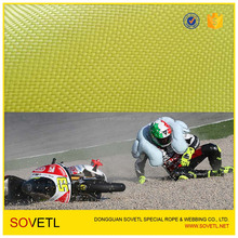 Yellowish Motorcycle Clothing Kevlar Aramid Fabric 0.3 Thickness