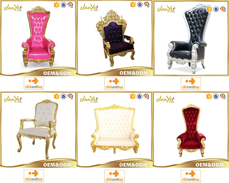 2017 Wholesale High Back Black Throne Chairs For Rental