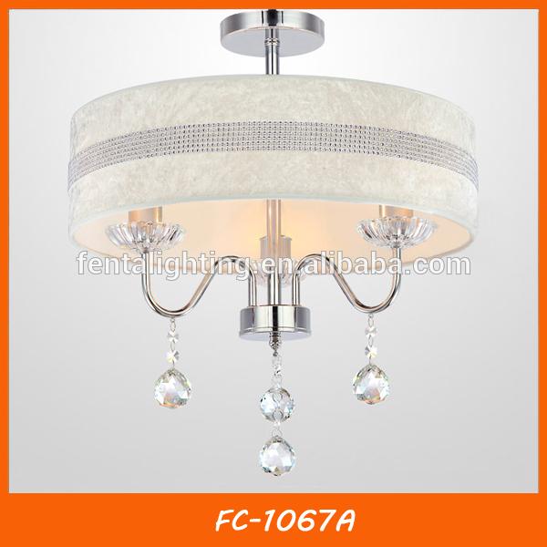 Europea moderna de cristal blanco luz ara a escaleras fc 1067a - Lampara de arana moderna ...