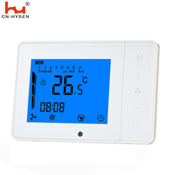 0~10V output fan digital fan coil room thermostat with touch screen