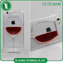 mobile phone accessories Hard PC Wine cup design liquid case for iphone 6