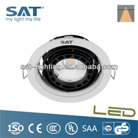 7W/12W COB Grille Light Rotating Recessed LED Downlight light fixtures for bathroom mirror