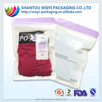 custom printed cheap clothing packaging bag/ t shirt plastic bags manufacturers