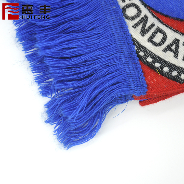 New selling super quality environment-friendly portable dust-proof breathable football fans tassel scarf