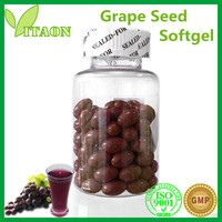 GMP , ISO certificate Health food grape seed extract softgel