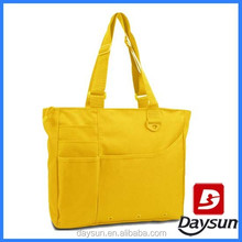 Simple fashion colorful shopping tote shoulder beach bag for diary use