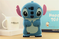 Lovely 3D Cartoon Model Soft Rubber Skin Silicon Silicone Cute Stitch Case Cover for Huawei Mate 7
