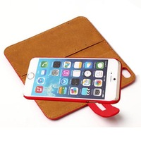 New product 2 In 1 leather purse flip case cover for apple iphone6 4.7