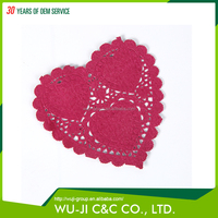 Top selling personalized eco-friendly colorful paper doily crafts