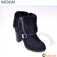 High heel cow suede shoes women boots snow boots kids snow boots