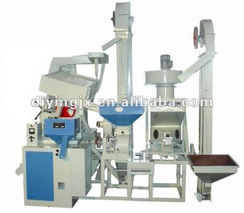 Combined Power saving rice milling and rice polishing machine